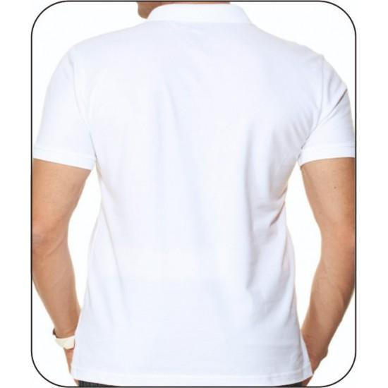 Bay Polo Yaka Beyaz Tshirt