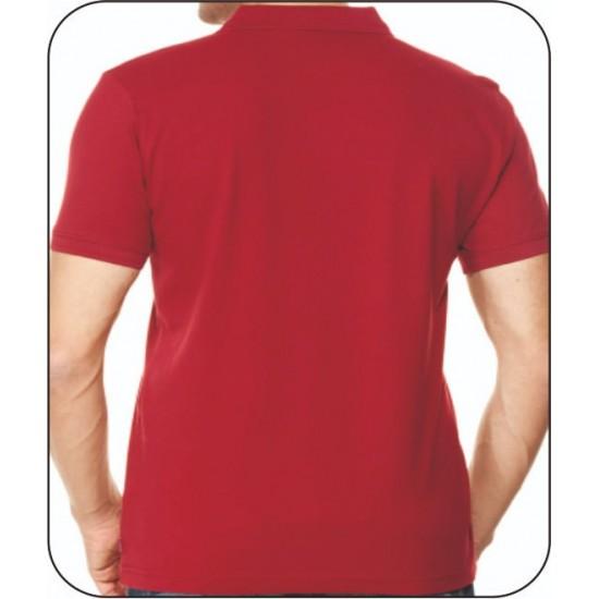 Bay Polo Yaka Bordo Tshirt