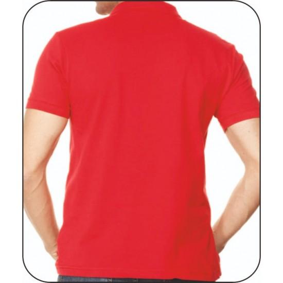 Bay Polo Yaka Kırmızı Tshirt