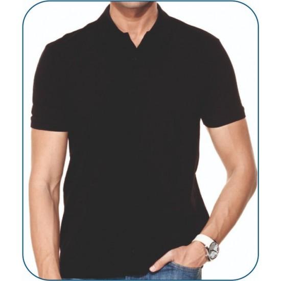 Bay Polo Yaka Siyah Tshirt