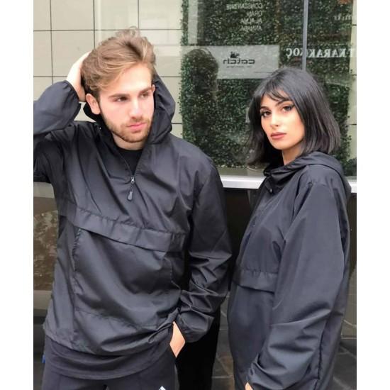 Sevgili Kombini Siyah Yağmurluk